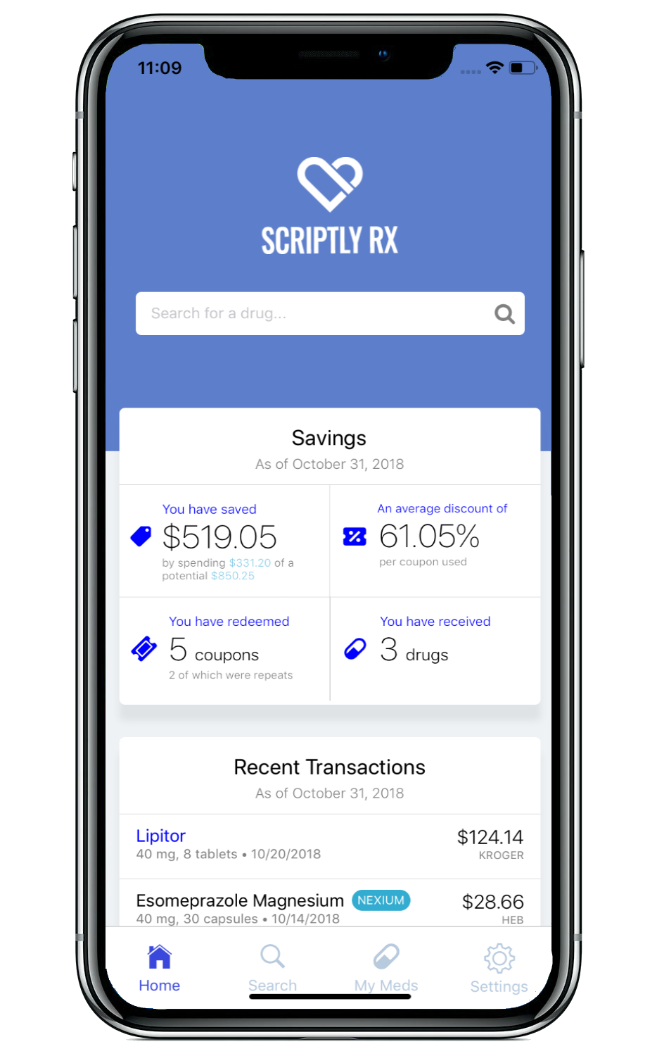 Scriptly Rx Mobile App Screenshot